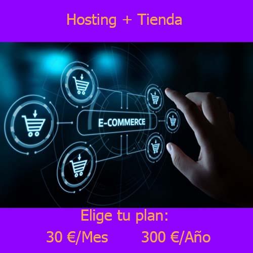 hosting Tienda producto